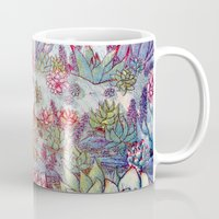 succulents Mugs featuring Succulents by Allie Morris