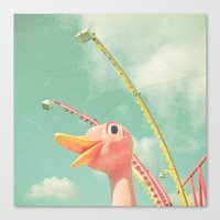 ostrich Canvas Prints featuring Ostrich by Cassia Beck