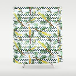 Beautiful Australian Native Grevillea Flower Print Shower Curtain
