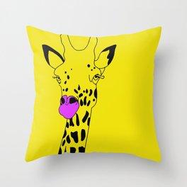 Goldie The Giraffe  Throw Pillow