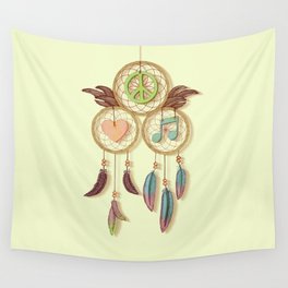 Peace, Love and Music Wall Tapestry