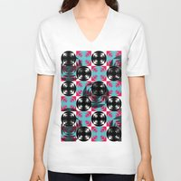 disco V-neck T-shirts featuring Disco Pattern by Negin Khatoun