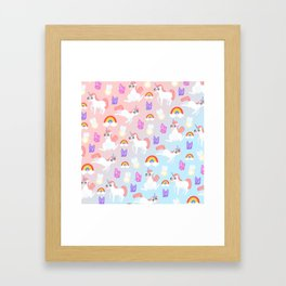DoOopy Unicorns Framed Art Print