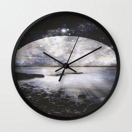 Mystic Lake Dark & Gray Wall Clock