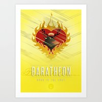 westeros Art Prints featuring Stannis Baratheon Sigil III (house words) by P3RF3KT