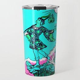 0. The Fool- Neon Dreams Tarot Travel Mug