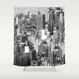 Lost in Metropolis Shower Curtain