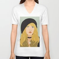 stevie nicks V-neck T-shirts featuring stevie by Britt Whitaker Design