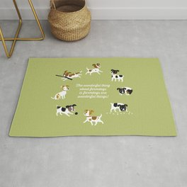 Farmdogs are wonderful things Rug