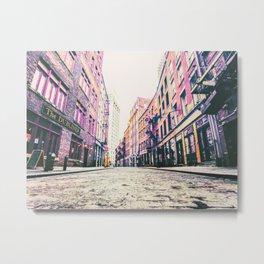 Stone Street - Financial District - New York City Metal Print