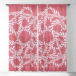 Candy cane flower 3 Sheer Curtain