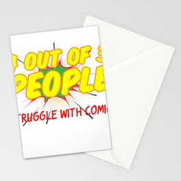 4 out of 3 People Struggle with Comics Stationery Cards