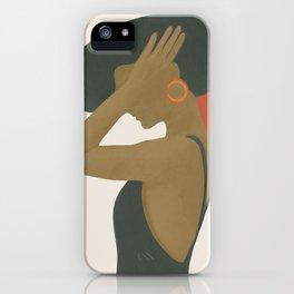Lady in a Black Dress iPhone Case