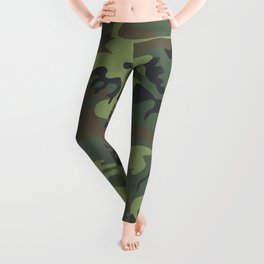 Camouflage Green Leggings
