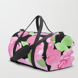 Blush Peony - Black Duffle Bag