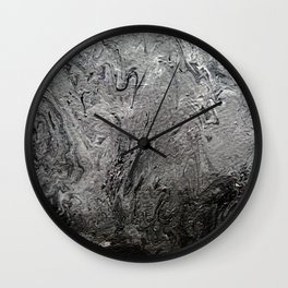 Black Lava II Wall Clock