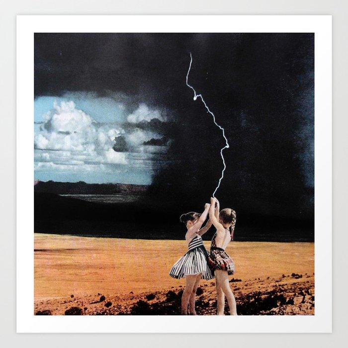 Lightning Kite Art Print