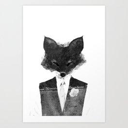 minima - dapper fox | noir Art Print