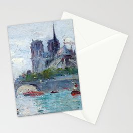 "Gustave Madelain ""The Seine and Notre Dame"" Stationery Cards"