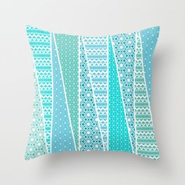 Patterned Triangles Throw Pillow