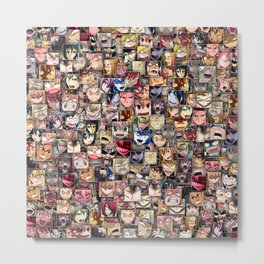 Anime angry faces Metal Print