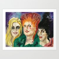 Hocus Pocus Watercolor Painting Art Print