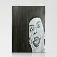 jack nicholson Stationery Cards featuring Jack Nicholson by Akeel Ford