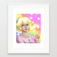 princess peach Framed Art Prints featuring Peach Princess by The Art of Leena Cruz :)