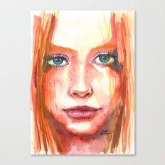 Portrait - RedHair & Freckles Canvas Print