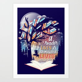 Thousand lives Art Print