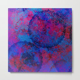 Abstract Spray Metal Print