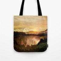 sunrise Tote Bags featuring Sunrise by Viviana Gonzalez
