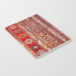 West Anatolian  Antique Turkish Kilim Print Notebook