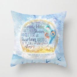 Like a Snow Globe Throw Pillow