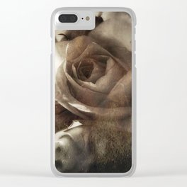 rose bloom tintype Clear iPhone Case