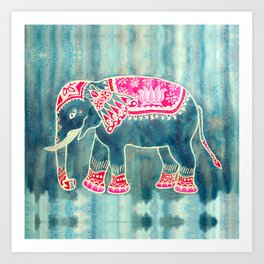 Elephant Indian Style Art Print