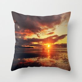 Love,walks and Sunsets Throw Pillow