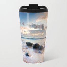Frothy Seascape Sunset Travel Mug
