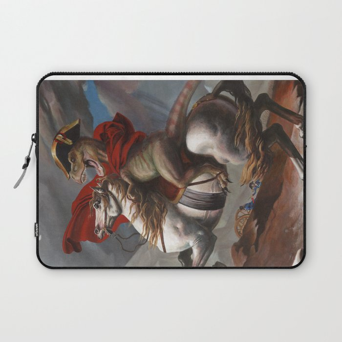 T. Rex Crossing the Alps Laptop Sleeve