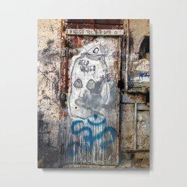 Tel Aviv Street Art / Help Wanted Metal Print