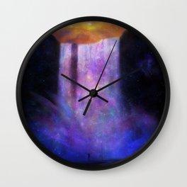 Galaxy waterfall Wall Clock