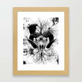 Wings and Horns of Death Framed Art Print