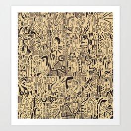 - maya newspaper - Art Print