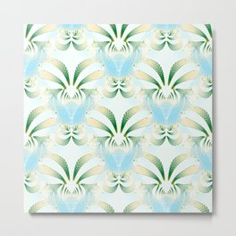 Pineapple Welcome Abstract #215 Metal Print