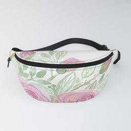 Watercolor . A bouquet of roses . Fanny Pack