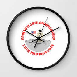 """Are You A Fan Of Astronomy? An Astronaut Dreamer? """"Apollo 11 50th Anniversary 20th July 1969-2019"""" Wall Clock"""