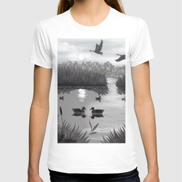 The Pond Black and White T-shirt