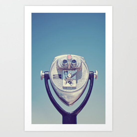 face with a view Art Print