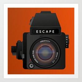 Escape Camera, medium format Art Print