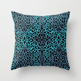 celtic blue Throw Pillow